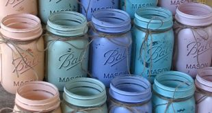 20 Pint Mason Jars, Ball jars, Painted Mason Jars YOUR COLORS , Flower Vases, Rustic Wedding Centerpieces, Showers, Parties Pastel Wedding