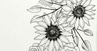 Drawing Sketches Flowers Tattoos 51+ Trendy Ideas