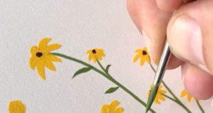 Kleine Wildblumen - Gouachemalerei von Philip Boelter