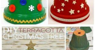 DIY Terrakotta Blumentopf Weihnachtsschmuck & Bastelanleitungen