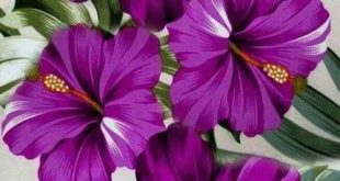46 New ideas for painting flower purple