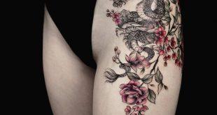 50+ süße Sommer bunte Blumen Tattoo Designs; Sommer Tattoo Ideen Strand; frau … #flowertattoos