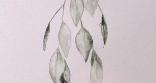 Aquarellblätter
