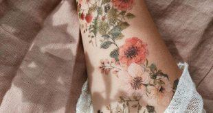 Blumen, Blumen und mehr Blumen t # Tätowierung # Flowerstattoo # Wildblumen # Zeichnen # Paiting # Temporäre Tätowierungen # Myartwork # Illustration # Kunst