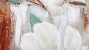 Framed Canvas Painting Flowers Vivian