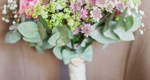 Fresh Country Pink & Green Wedding with Tweed Bow Ties
