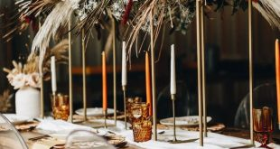Get Inspired by the Folksy Fall Palette and Dried Palms in This Wedding Inspo at...