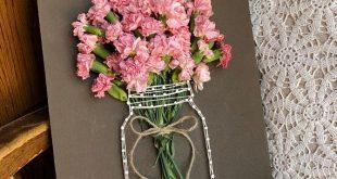 Getrocknete Nelke Jar String Art