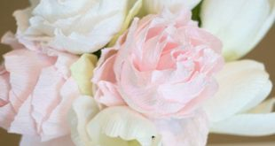 Learn how to create crepe paper peonies.