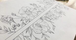"""""""Mi piace"""": 2,087, Kommentare: 11 - Tätowierer _ Gemstone (@tattooist_wonseok) su Instagram: """"Blume, Arm-Band-Design ... #illust #tattoos #tattoodesign #wonseok #tattooist #flower # tätowiert ..."""""""