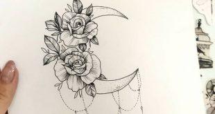 Moon Tattoo Designs – SkillOfKing.Com #flowertattoos
