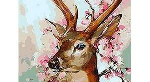 Pretty Flower Deer - DIY 5D Diamond Painting - Full Drill