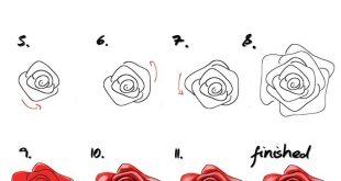 Rose malen für Anfänger - einfaches Tutorial/ malen lernen