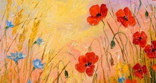 "Saatchi Art Artist Olha Darchuk; Painting, ""Wild flowers in the moonlight"" #..."