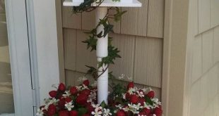 See how to stick a table leg from Lowe's into a bucket to make your neighbors smile whenever they pass your house!