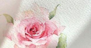 Trendy flowers painting acrylic rose watercolors ideas