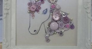 Unicorn art, made from different buttons,diamonte and other resin flowers. Each ...