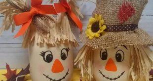 Vogelscheuche Mason Jar, Herbst Dekor, Herbst Herzstück, Vogelscheuche Dekor, Herbst Party, Halloween-Dekor, Herbst Mason Gläser, Vogelscheuche Paar