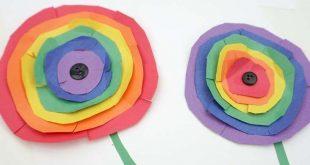 Wie man Kandinsky inspiriert, Regenbogen Kreis Blumenkunst mit Kindern #Twitchetts