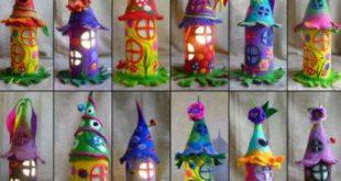 felted fairy house, toadstool, bedside lamp, night light, handmade, wool, felt, fairy light, Waldorf inspired, made to order
