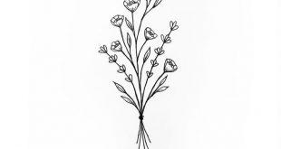 wildflower bunch tattoo #tattoos